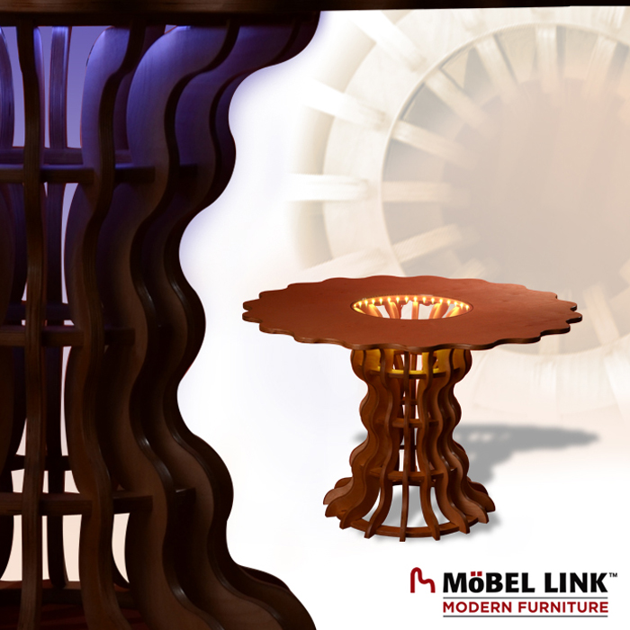 mobel link modern furniture bumbershoot table