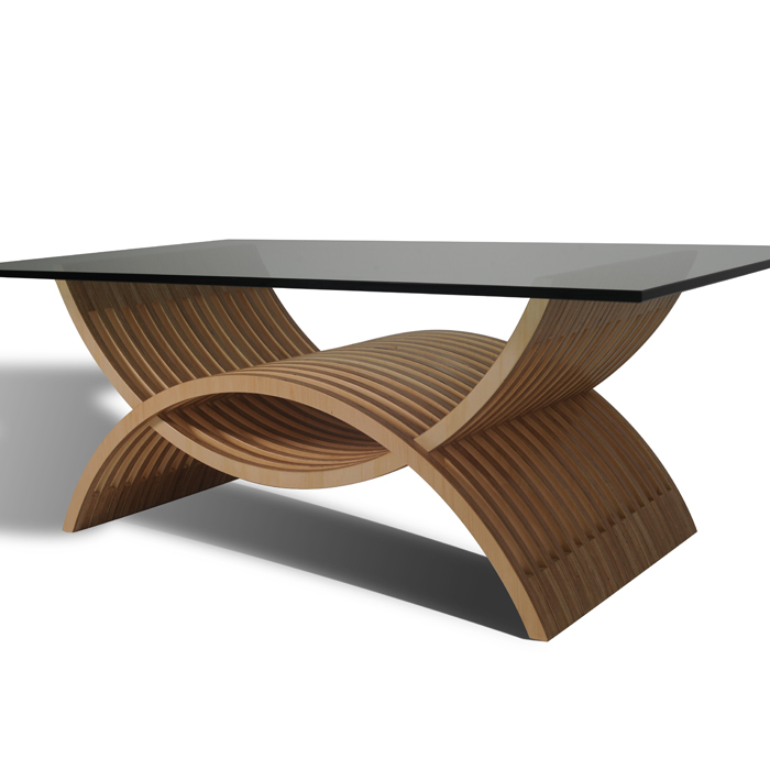 Waldek low table mobel link modern furniture for Modern wood furniture