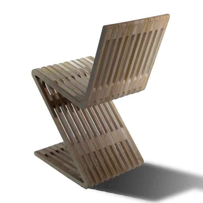Modern Wood Furniture Zag Zig Chair 4